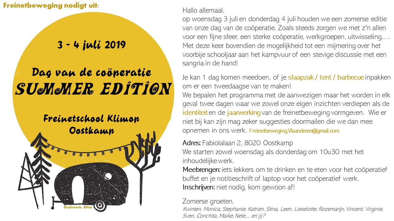 Dag van de coöperatie: summer edition @ Oostkamp | Vlaanderen | België